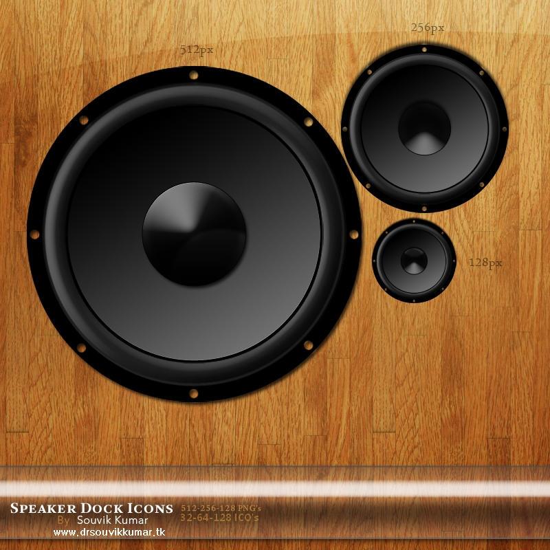 HQ Speaker Dock Icon by drsouvikkumar