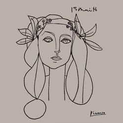 Portrait of Francoise Gilot 3D