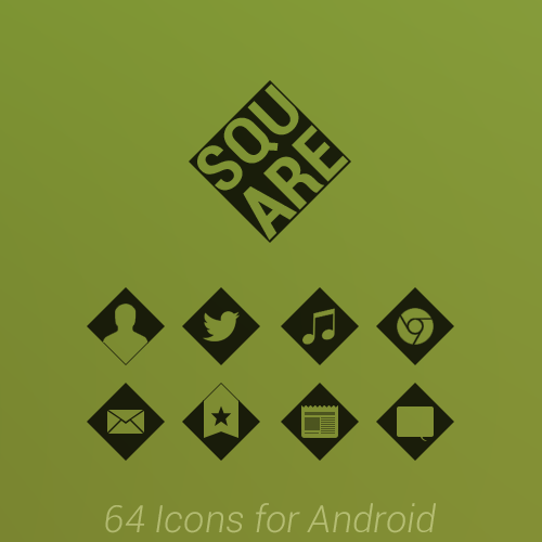 Square Icons for Android by LinkPlay9