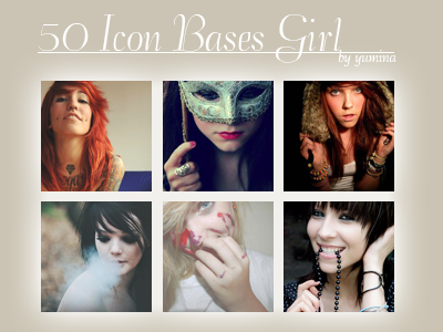 50 icon bases girls by yumi96