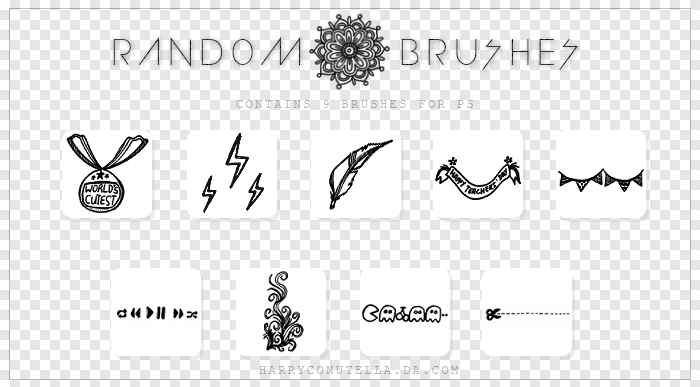 Random Brushes Pack - {styxlik} by harryconutella