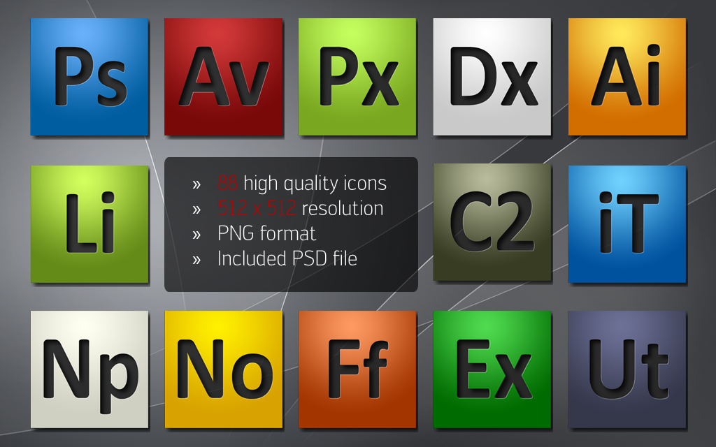 Adobe CS4 Style Dock Icons by k2aven