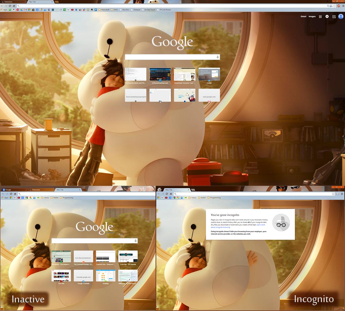 Gmail theme gone -  Reboot Chrome Theme By Tumthe3