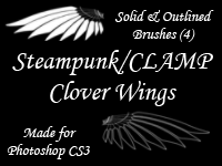 Steampunk-Clamp Clover Wings by kalty-salty