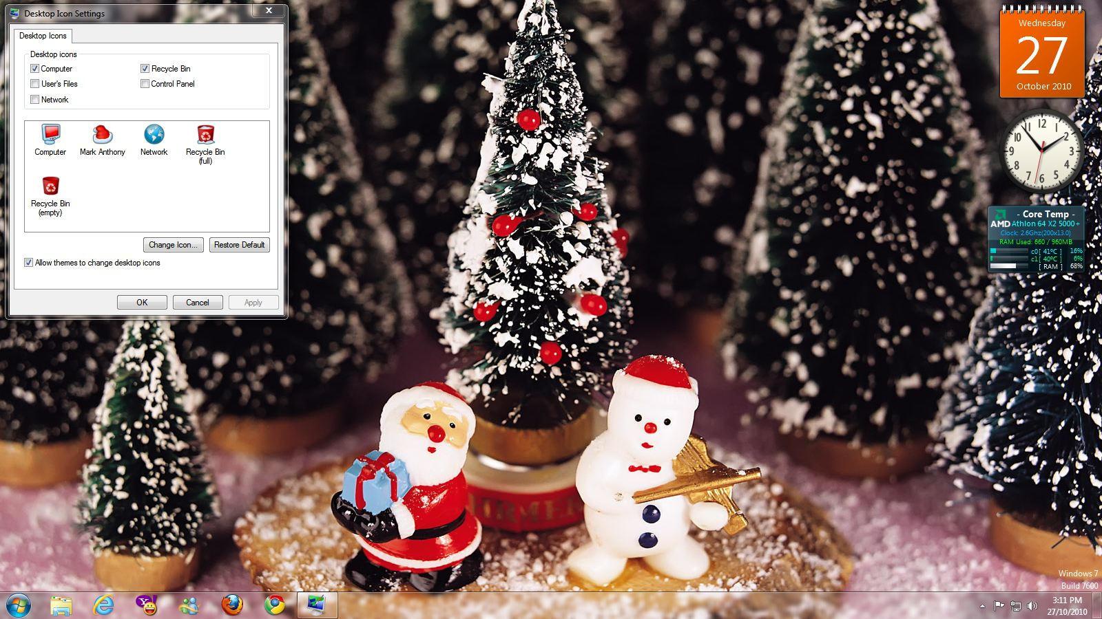Windows 7 Christmas Theme by blackboy993