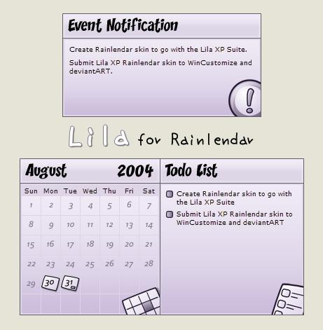 Lila XP for Rainlendar by CaveBear