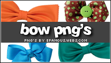 Png Bow Decors by efamous