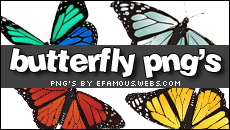 Butterfly png's by efamous