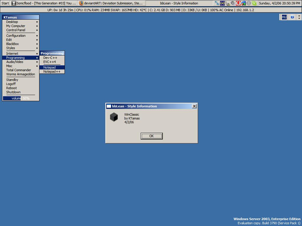 Windows Classic for Blackbox