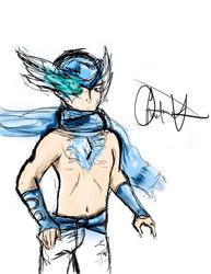 Gaia Online Avatar Drawing by Espanilla