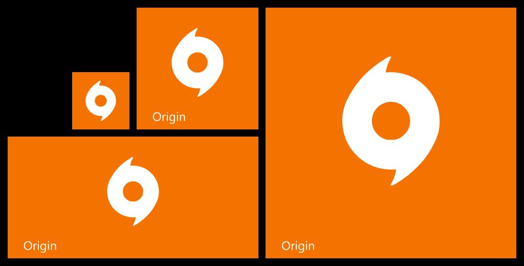 origin windows 8 1 start tile set by necromod on deviantart. Black Bedroom Furniture Sets. Home Design Ideas