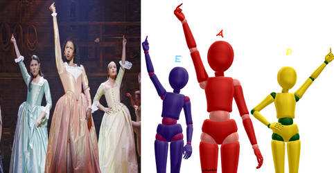 MMD The Sisters Pose from Hamilton