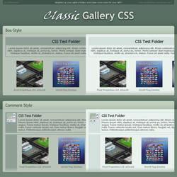 Classic Gallery CSS by BoffinbraiN
