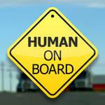 Human On Board Print