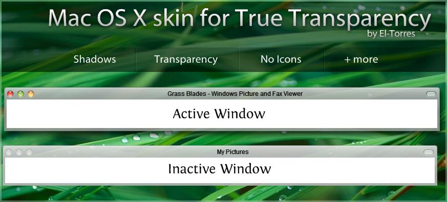 Mac OSX skin with shadow - TT by El-Torres