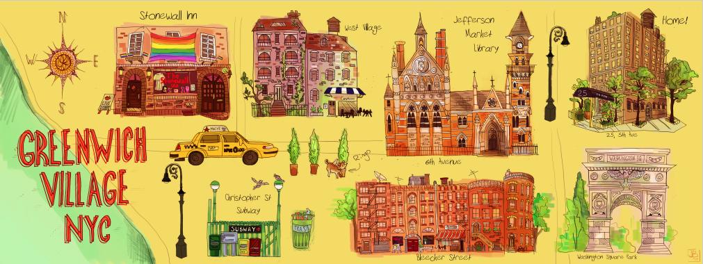 Subway Map Greenwich Village.Greenwich Village Map By Xxxnycmangaluverxxx On Deviantart