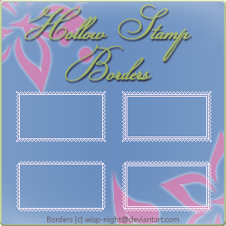 Hollow Stamp Border Pack