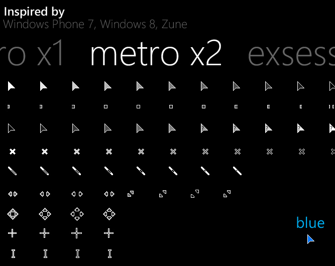 Metro X2 Animated Cursor Set
