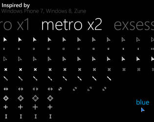 Metro X2 Animated Cursor Set by exsess