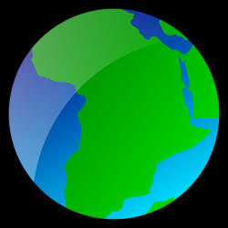 'Africa' Vector Globe by trisreed