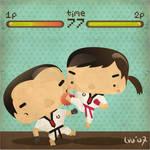 i kick you