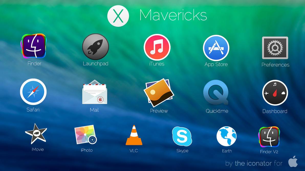 Mac OS X Mavericks icons by theiconator