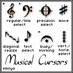 Musical Cursor Pack by Emiiya