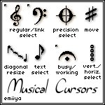 Musical Cursor Pack by Emiiya