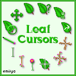 Leaf Cursor Pack by Emiiya