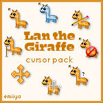 Giraffe Cursor Pack