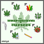 Marijuana Cursor Pack by Emiiya