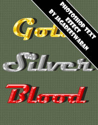Free PS Text Effect - Blood Gold Silver