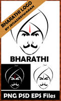 BHARATHI LOGO in PSD PNG and EPS Formats