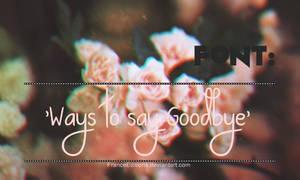 Ways to say Goodbye. Font