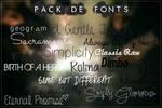 #Especial de Fonts -END- [Pack de Fonts  5/5]