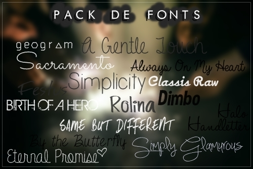 #Especial de Fonts -END- [Pack de Fonts  5/5] by FranceEditions