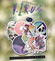 V.I.R.U.S Stickers // ILYNM by FranceEditions