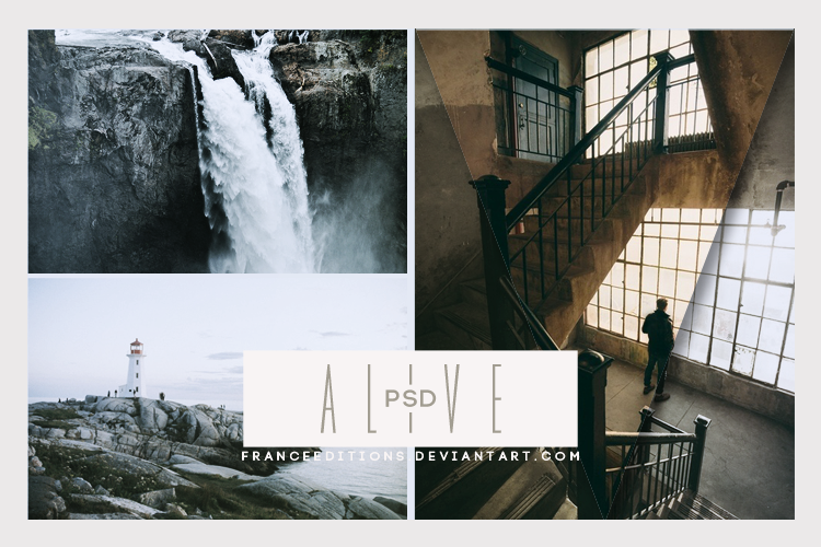 Alive // .PSD by FranceEditions