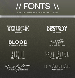 Sad Faces // #3 FONTS