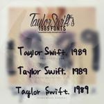 Taylor Swift 1989 // FONTS