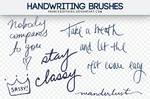 Handwriting  BRUSHES franceeditions!
