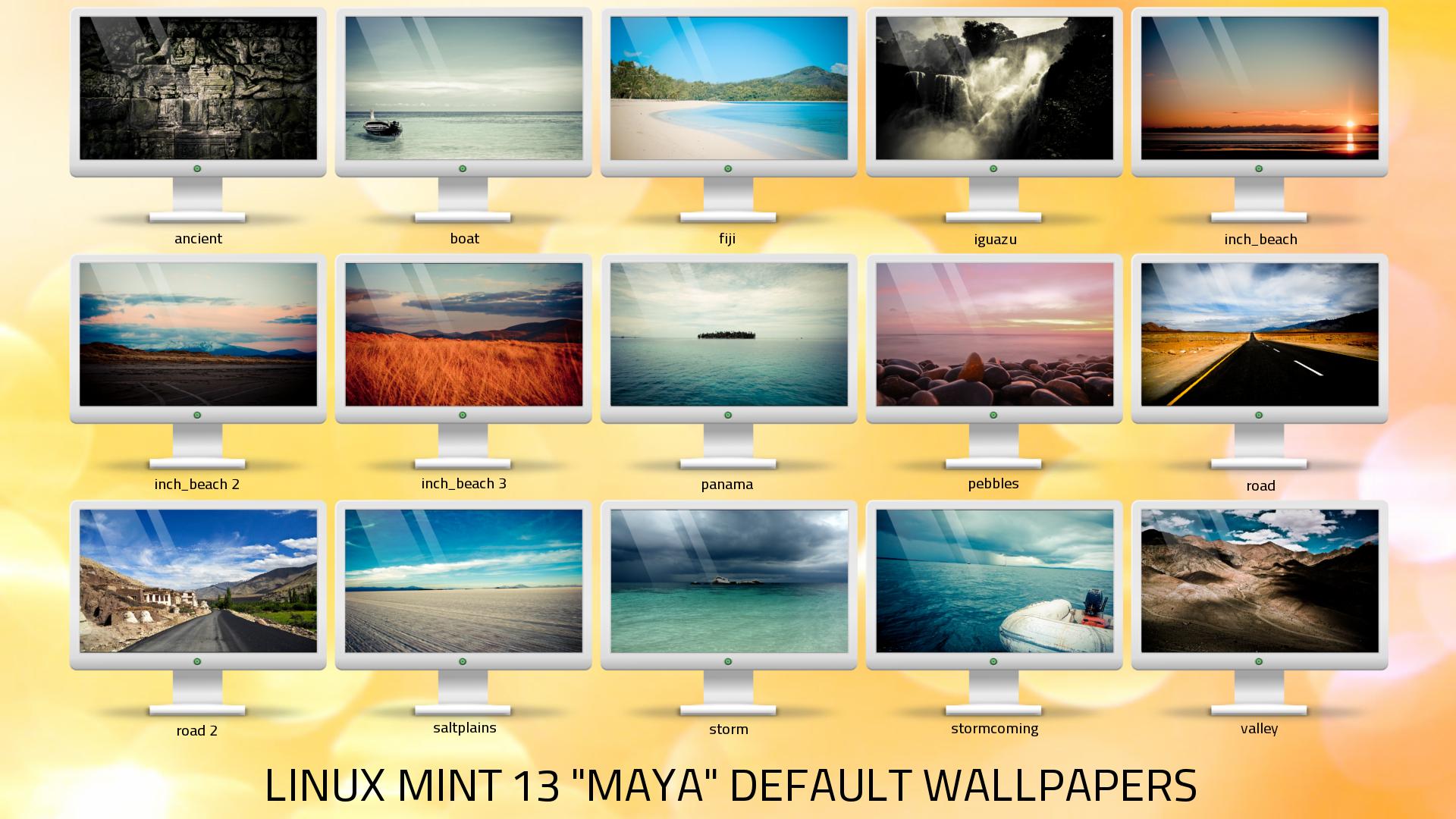 linux mint 13 maya default wallpapers pack