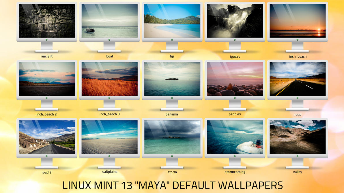 linux mint 13 maya default wallpapers pack by omer-oGD