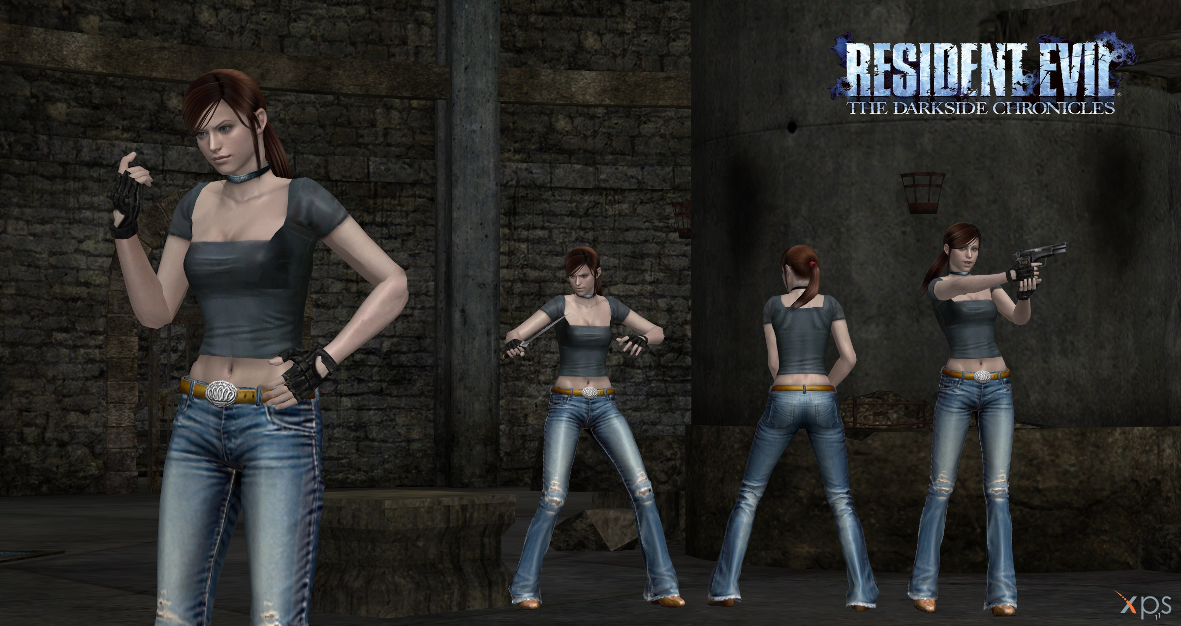 claire redfield cv dsc no vest mesh mod