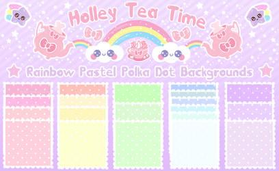 Kawaii Rainbow Polka Dot BG by miemie-chan3