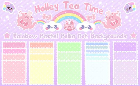 Kawaii Rainbow Polka Dot BG