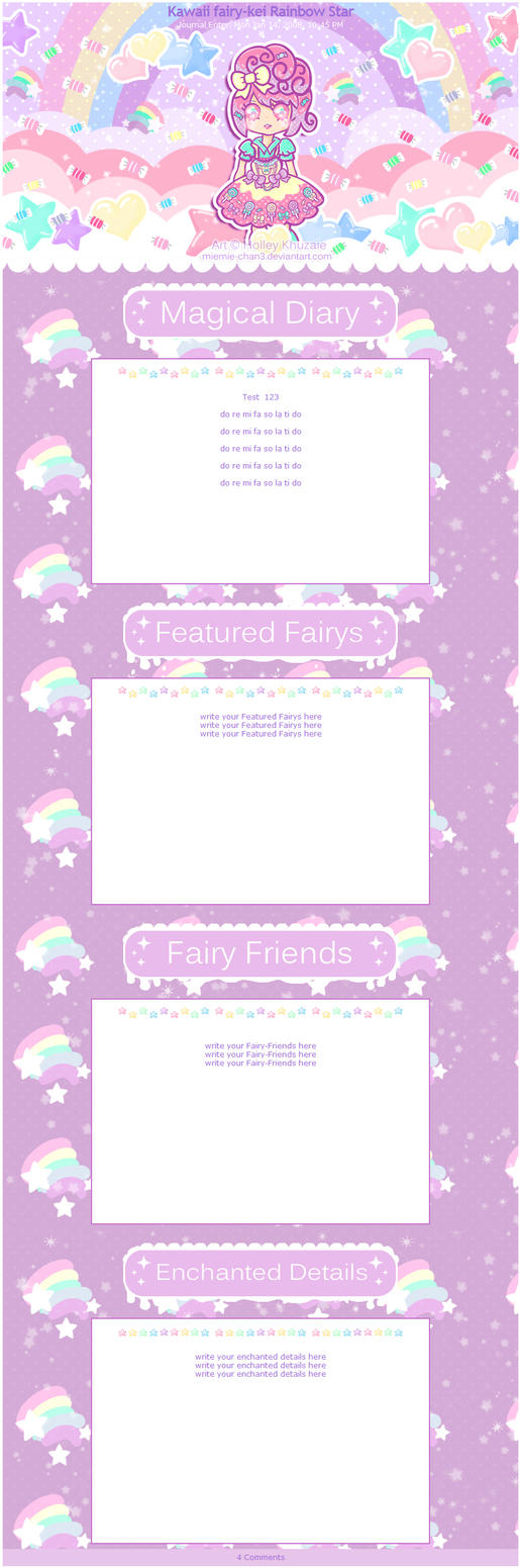 Kawaii fairy-kei Rainbow Star Journal by miemie-chan3