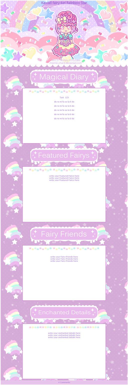 Kawaii fairy-kei Rainbow Star Journal by miemie-chan3