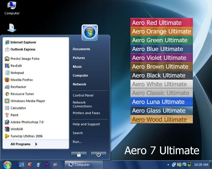 Как сделать aero 7