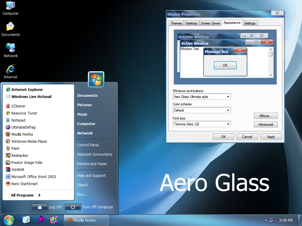 aero tuner windows 7 ultimate